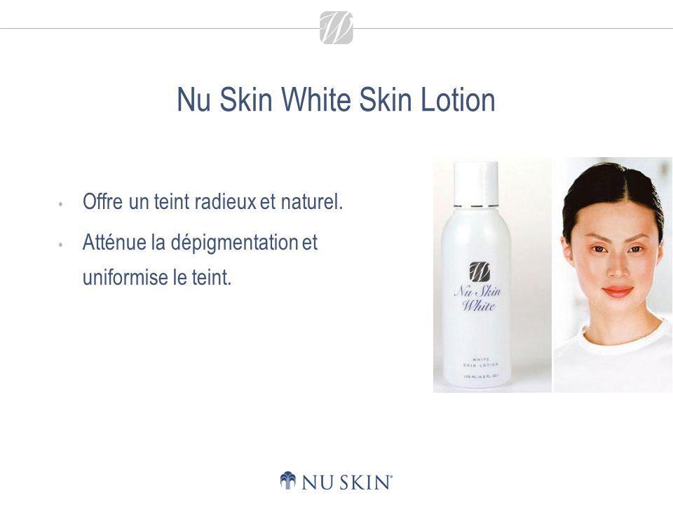Nu Skin White Skin Lotion La protection antioxydante contribue à protéger la peau contre les tâches brunes et tâches de rousseur provoquées par les rayons du soleil et les agressions extérieures.