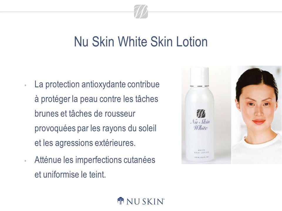 Nu Skin White Skin Lotion - Principaux bienfaits Les agents hydratants et émollients revitalisent la peau et lui permettent de conserver un taux optimal dhydratation.