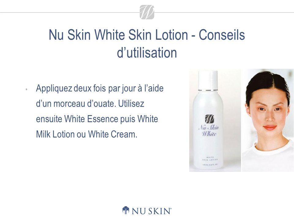 Nu Skin White Essence Rend le teint plus uniforme et améliore lapparence de la peau.