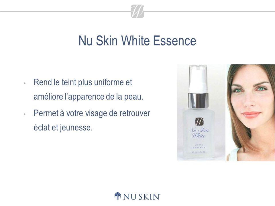 Nu Skin White Essence - Principaux bienfaits Contribue à atténuer et à prévenir lapparition dun teint peu uniforme, de taches brunes et taches de rousseur.