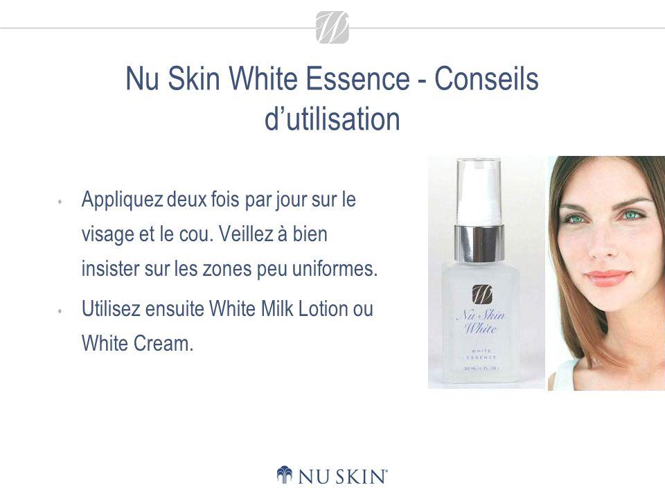 Nu Skin White Milk Lotion Offre un teint rayonnant de santé.