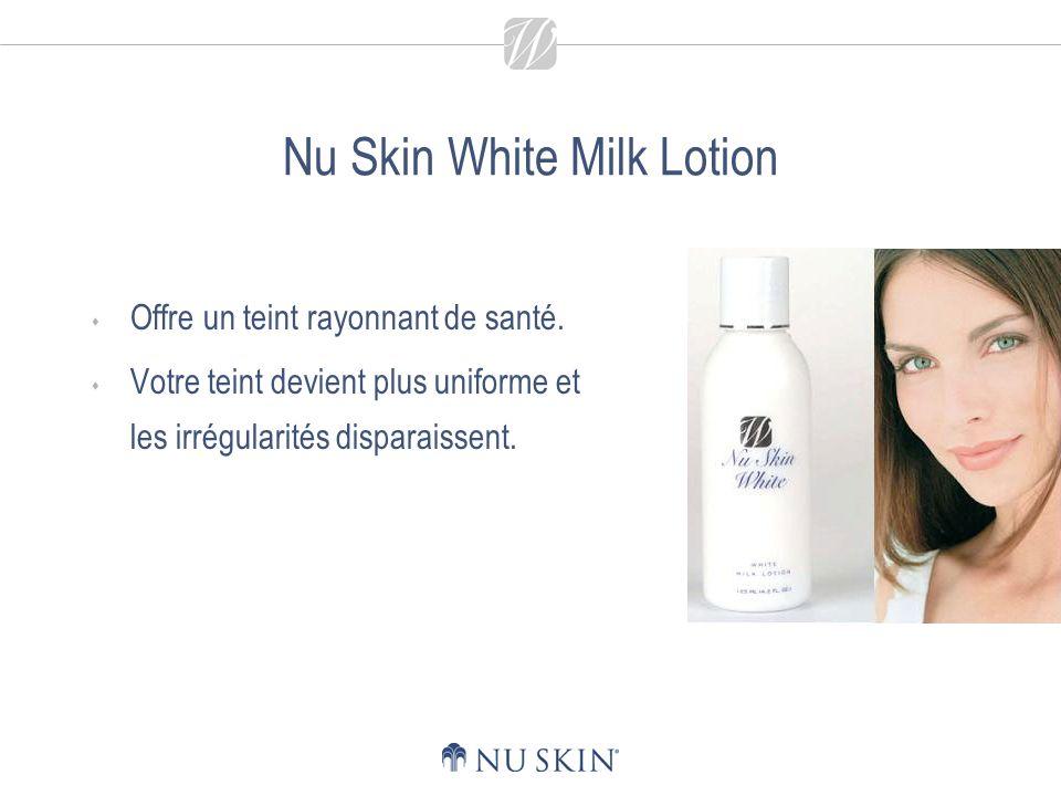 Nu Skin White Milk Lotion La lotion atténue les taches brunes et taches de rousseur provoquées par une exposition excessive au soleil.
