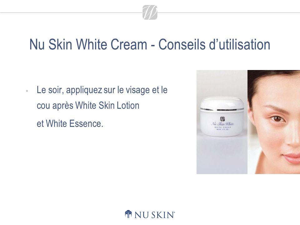 Nu Skin White UV Base Contribue à réduire et à atténuer le teint peu uniforme, les taches sombres et de rousseur.