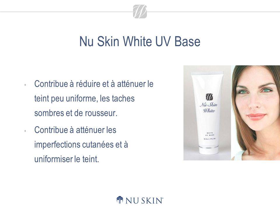 Nu Skin White UV Base - Principaux bienfaits Lagent UV offre une protection contre les rayons nocifs du soleil.