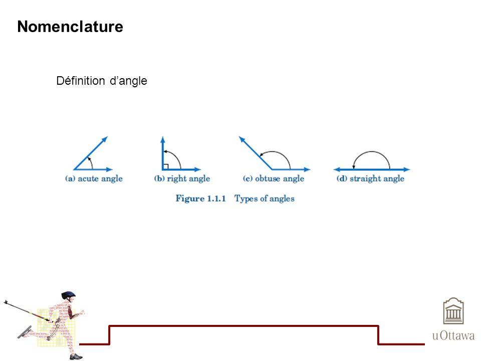 Nomenclature Définition dangle