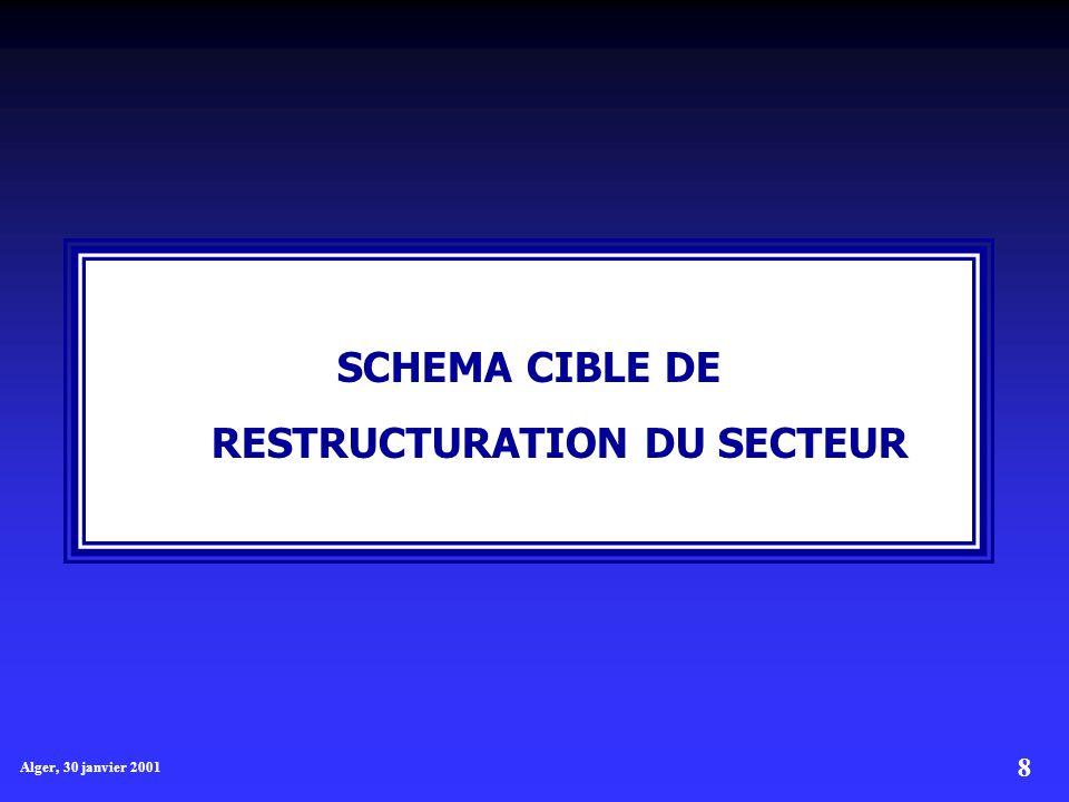 8 Alger, 30 janvier 2001 SCHEMA CIBLE DE RESTRUCTURATION DU SECTEUR