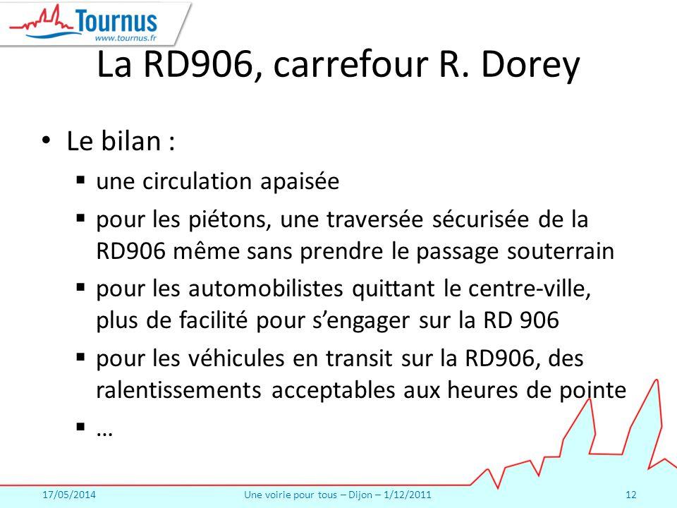 17/05/2014Une voirie pour tous – Dijon – 1/12/201112 La RD906, carrefour R.