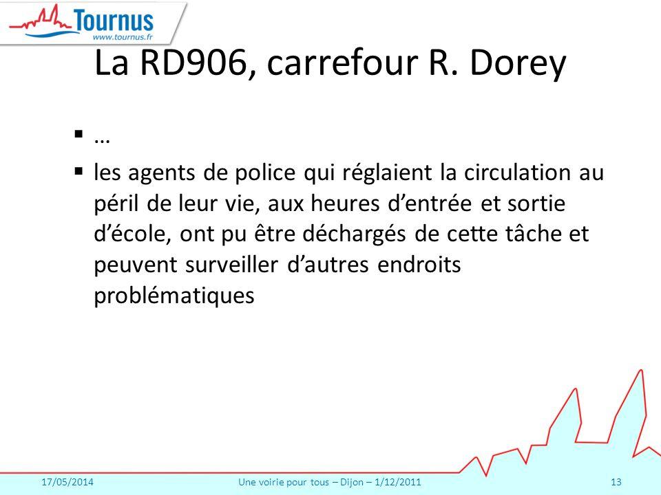 17/05/2014Une voirie pour tous – Dijon – 1/12/201113 La RD906, carrefour R.
