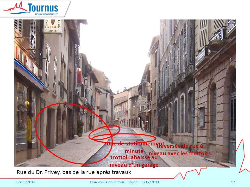17/05/2014Une voirie pour tous – Dijon – 1/12/201117 Rue du Dr.