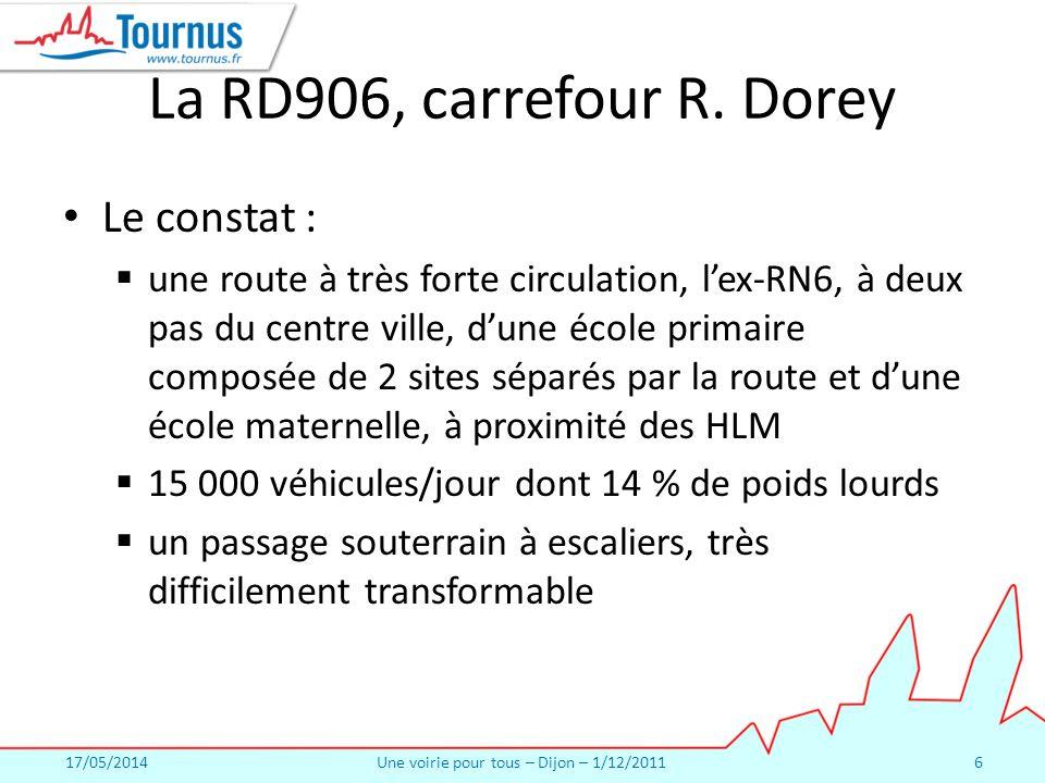 17/05/2014Une voirie pour tous – Dijon – 1/12/20116 La RD906, carrefour R.