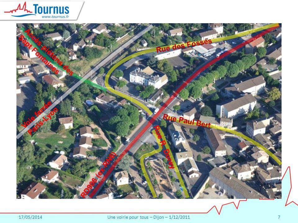 17/05/2014Une voirie pour tous – Dijon – 1/12/20117 Rue R.