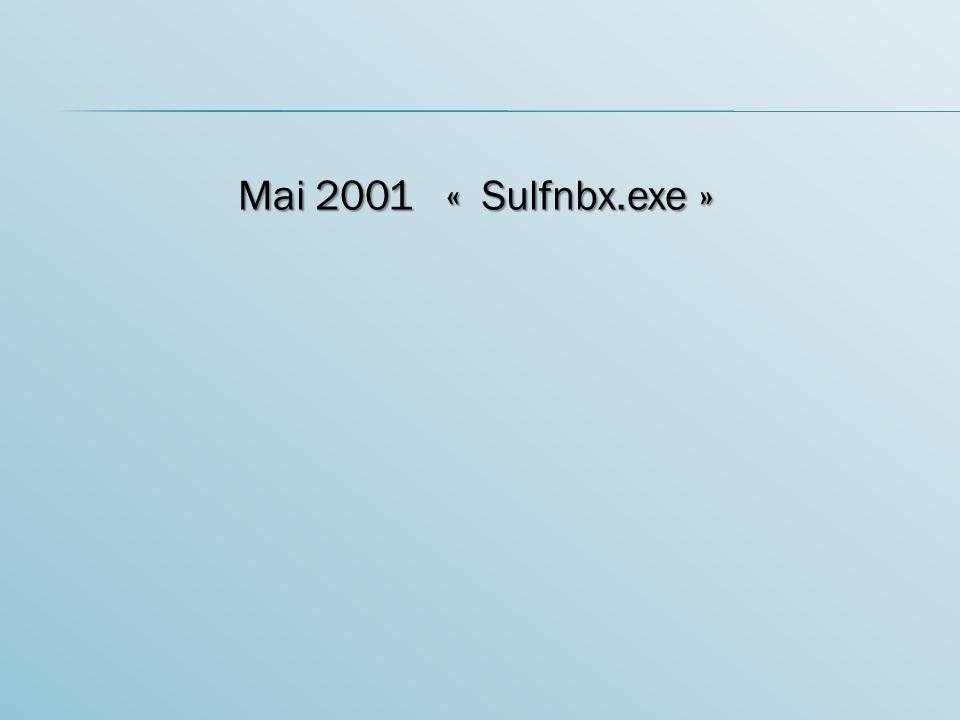 Mai 2001 « Sulfnbx.exe »