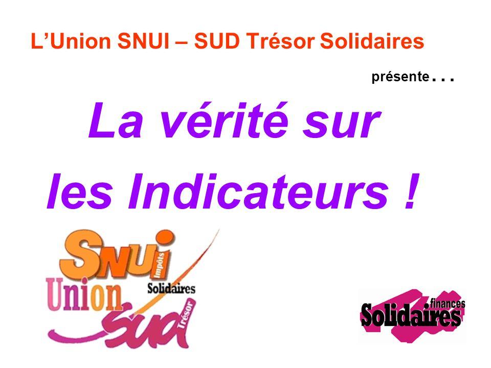 LUnion SNUI – SUD Trésor Solidaires présente … La vérité sur les Indicateurs !