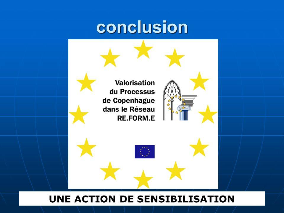 conclusion UNE ACTION DE SENSIBILISATION