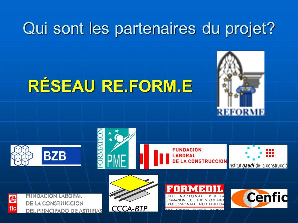Qui sont les partenaires du projet RÉSEAU RE.FORM.E