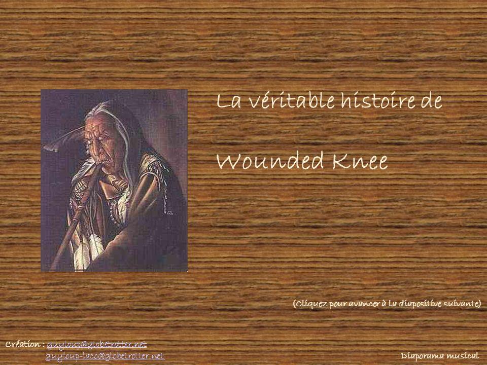 La véritable histoire de Wounded Knee Création : guyloup@globetrotter.netguyloup@globetrotter.net guyloup-laco@globetrotter.net Diaporama musicalguyloup-laco@globetrotter.net (Cliquez pour avancer à la diapositive suivante)