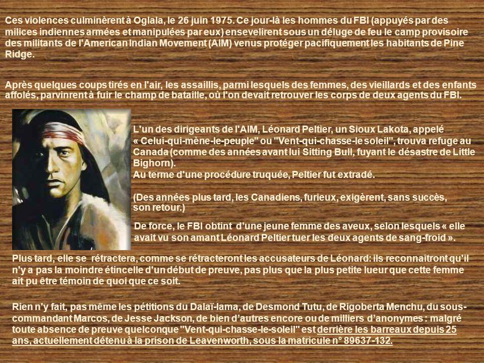 Wounded Knee 28 février 1973, Un groupe de jeunes activistes de l'AIM (American Indian Mouvement) s'empare du poste du Bureau des Affaires Indiennes d