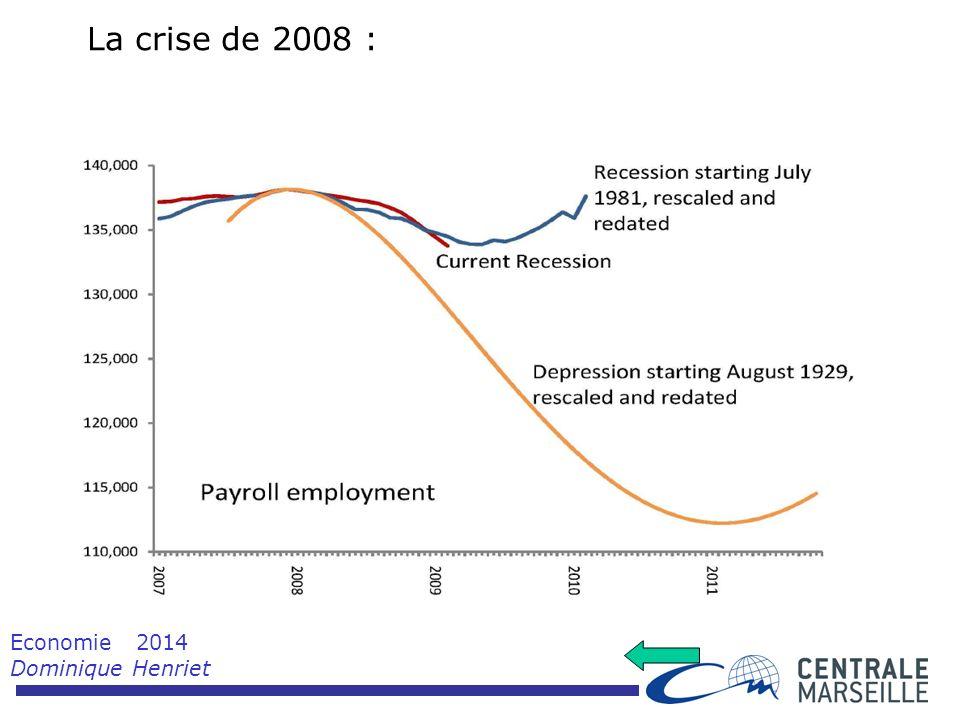 Economie 2014 Dominique Henriet La crise de 2008 :
