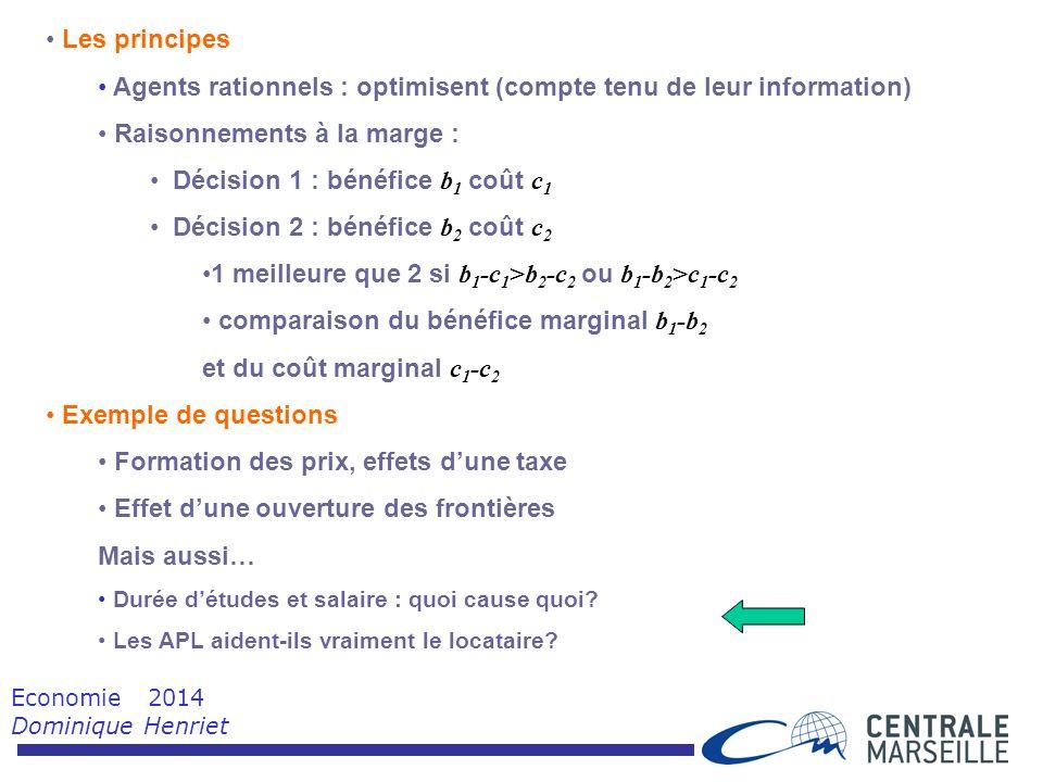 Economie 2014 Dominique Henriet
