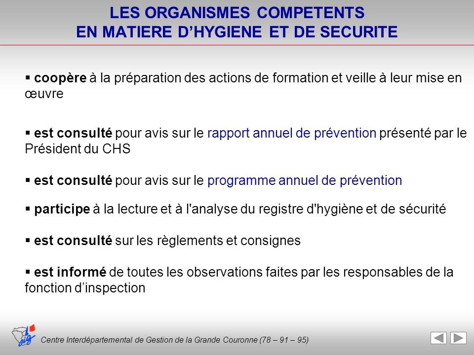 coopère à la préparation des actions de formation et veille à leur mise en œuvre est consulté pour avis sur le rapport annuel de prévention présenté p