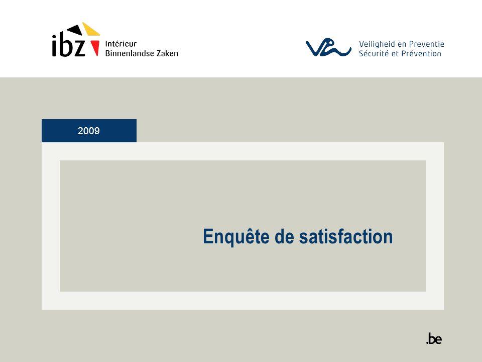 2009 Enquête de satisfaction