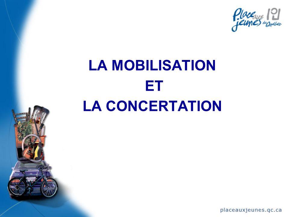 LA MOBILISATION ET LA CONCERTATION