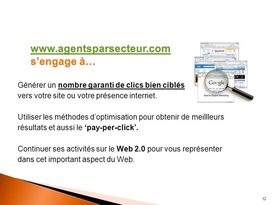 Agentsparsecteur.comAgentsparsecteur.com, contrairement à un annuaire, limite le nombre de participants. Soyez parmi les leaders et prenez votre place