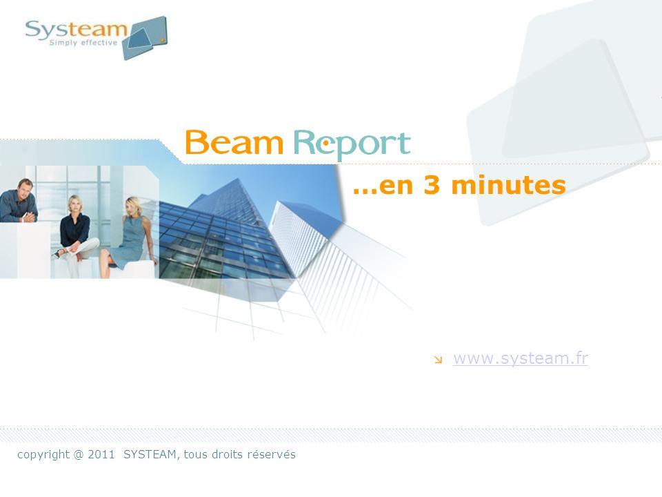 Beam-Report IntroductionPage 2 Notre expertise Consolider, réguler et hiérarchiser les informations qui remontent chaque semaine de votre organisation.