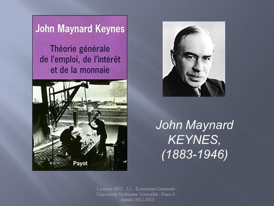 John Maynard KEYNES, (1883-1946)