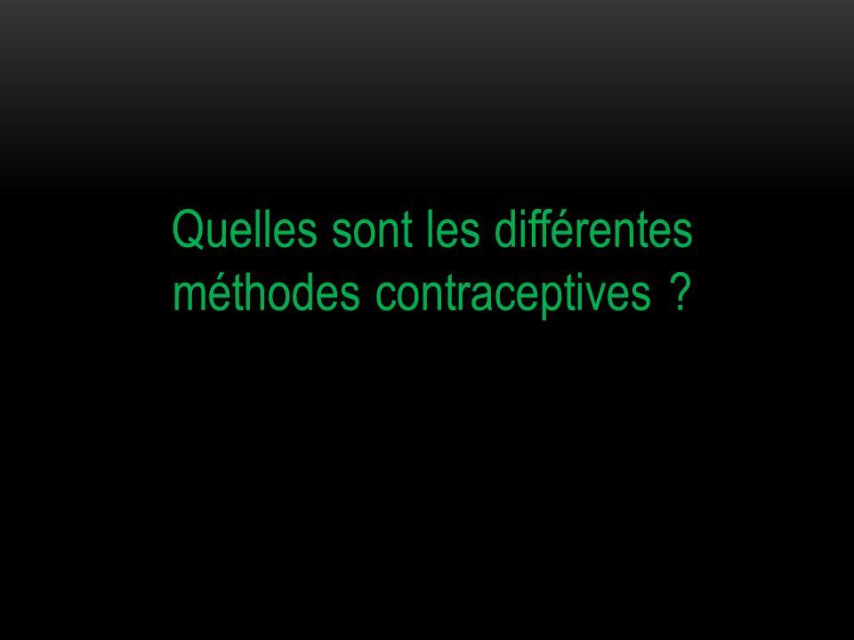 Quelles sont les différentes méthodes contraceptives ?