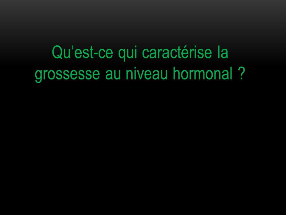 Quest-ce qui caractérise la grossesse au niveau hormonal ?