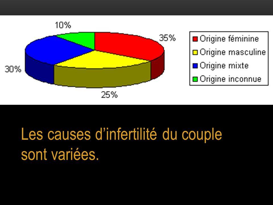 Les causes dinfertilité du couple sont variées.