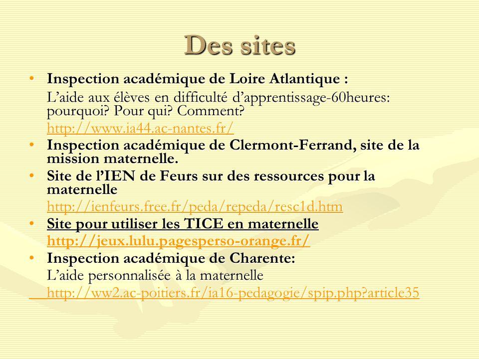 Des sites Inspection académique de Loire Atlantique :Inspection académique de Loire Atlantique : Laide aux élèves en difficulté dapprentissage-60heures: pourquoi.