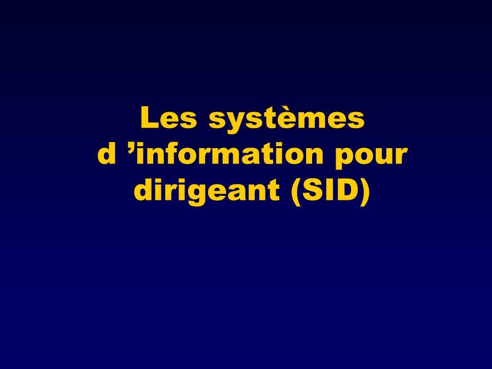 Les systèmes d information pour dirigeant (SID)