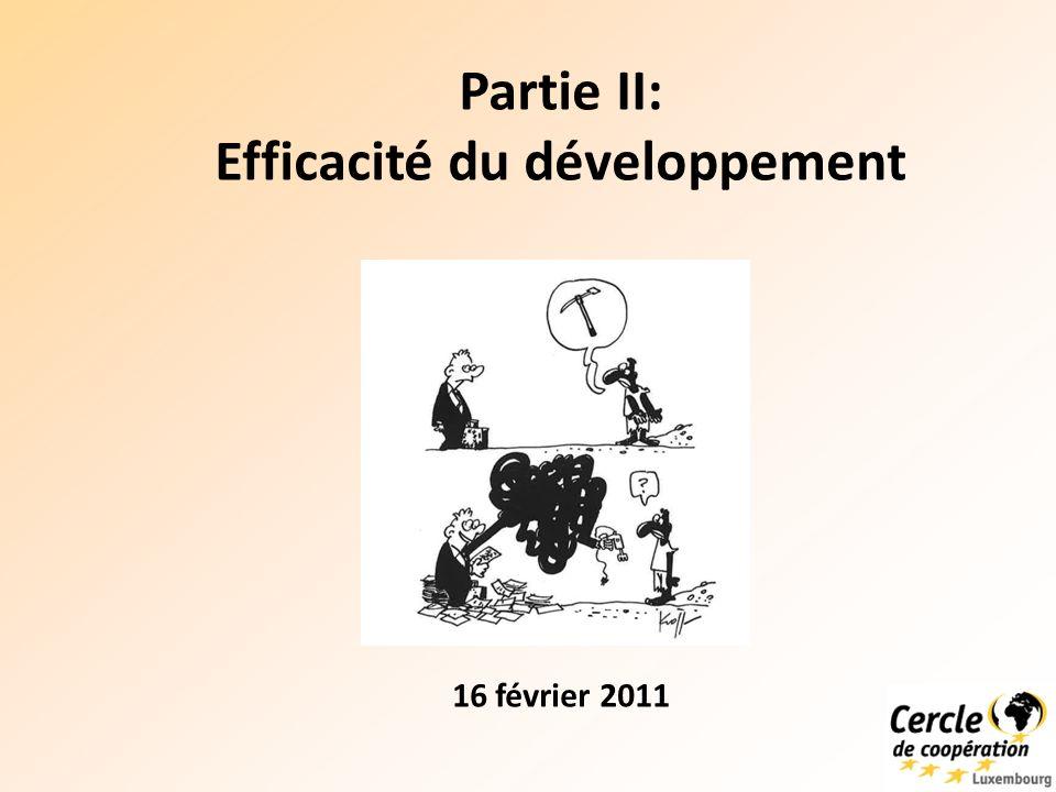 Brainstorming Question 1: Cest quoi pour vous une aide qui contribue à un développement efficace.