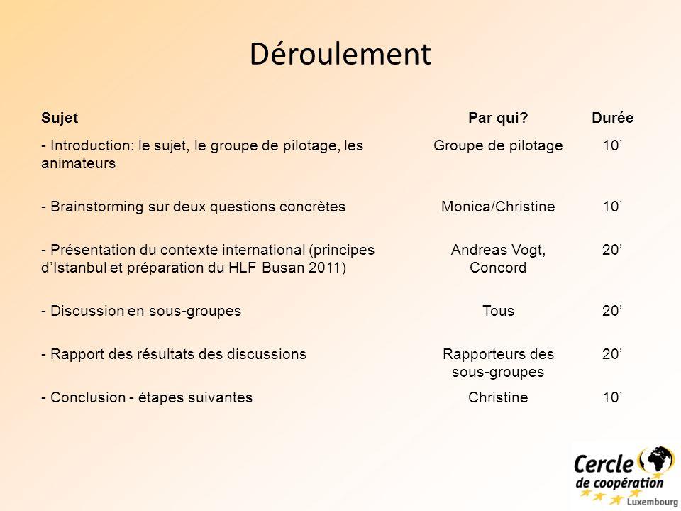 Partie II: Efficacité du développement 16 février 2011