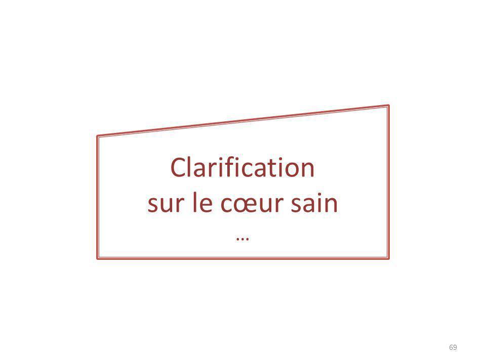 Clarification sur le cœur sain … 69