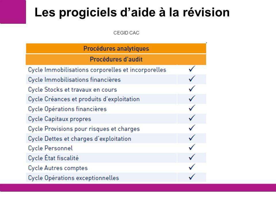 Les progiciels daide à la révision 4 CEGID CAC