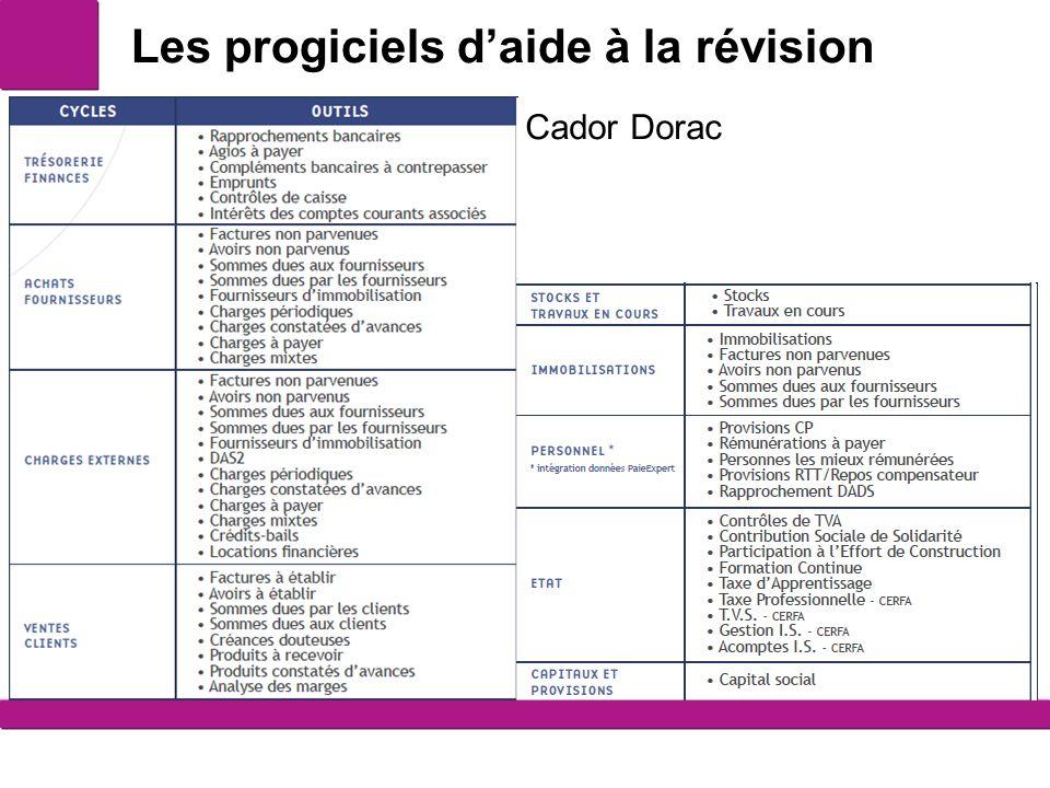 Les progiciels daide à la révision 5 Cador Dorac