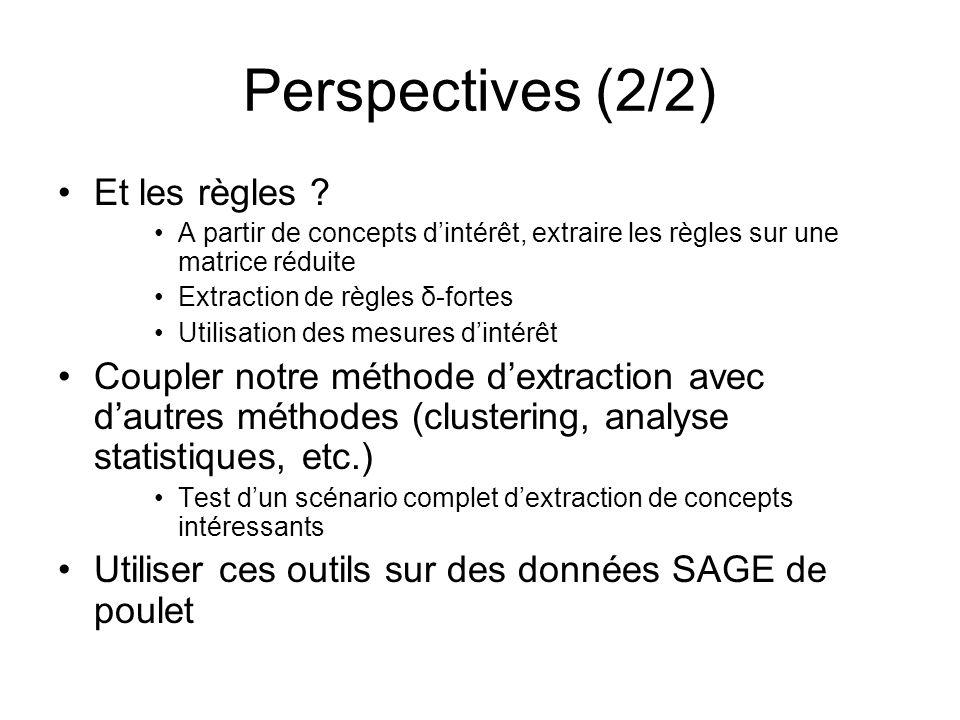 Perspectives (2/2) Et les règles .