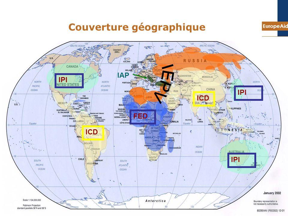 EuropeAid 8 IAP ICD FED IPI Couverture géographique