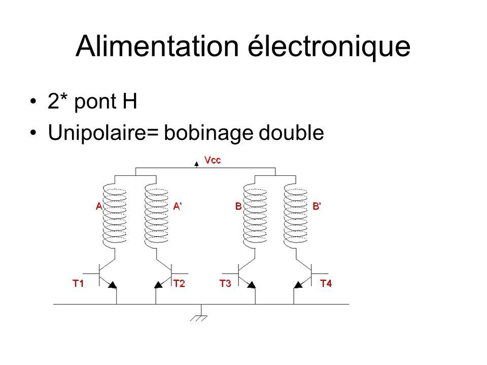Alimentation électronique 2* pont H Unipolaire= bobinage double
