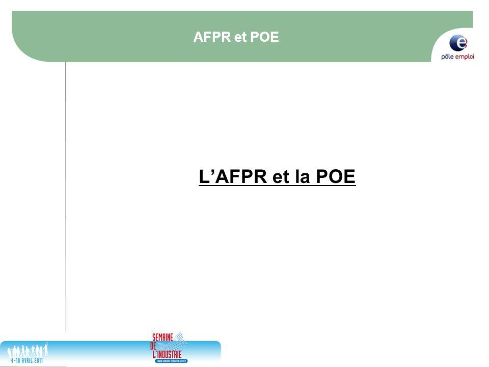 17/05/2014 14 AFPR et POE LAFPR et la POE