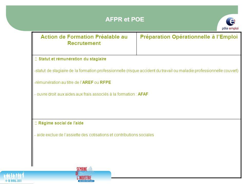 17/05/2014 18 Action de Formation Préalable au Recrutement Préparation Opérationnelle à lEmploi Statut et rémunération du stagiaire -statut de stagiai