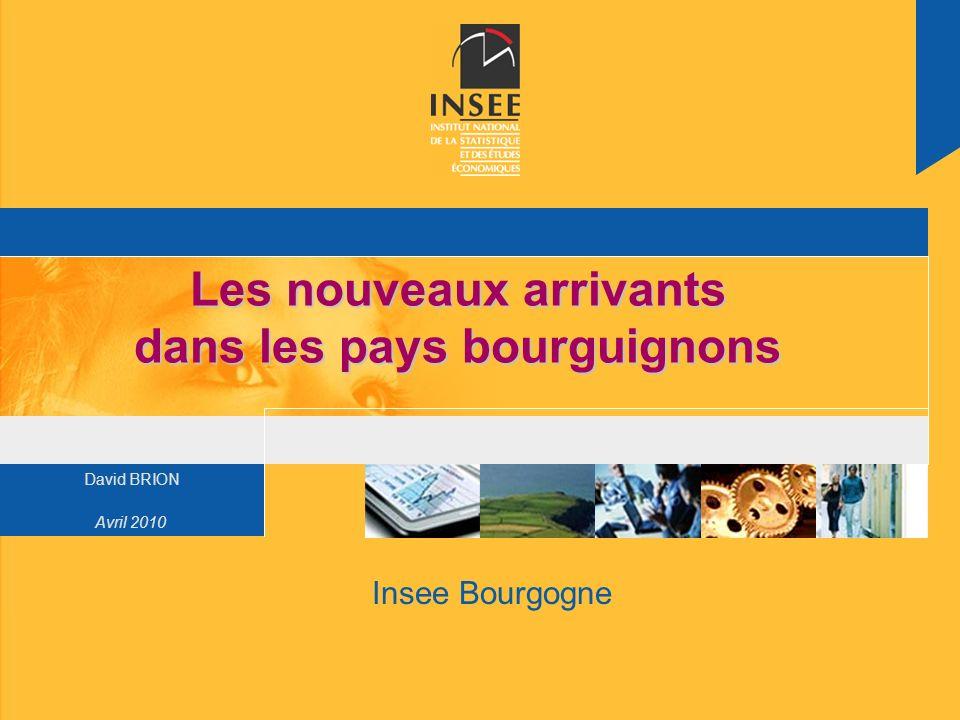 Page 12 Insee BourgogneAvril 2010 Les nouveaux arrivants dans les pays bourguignons Moins dactifs potentiels