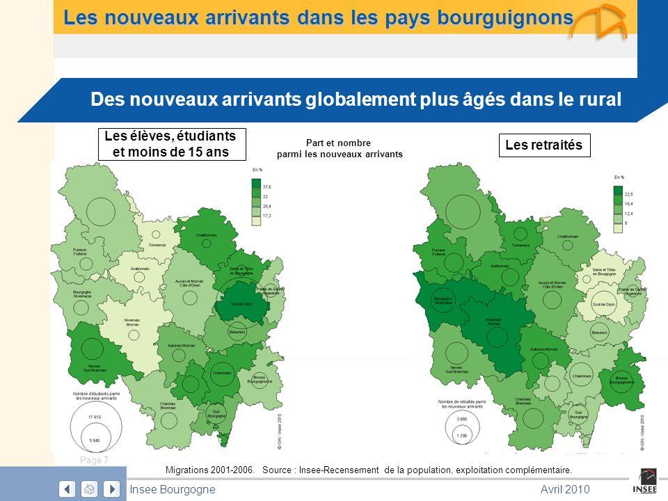 Page 7 Insee BourgogneAvril 2010 Les nouveaux arrivants dans les pays bourguignons Migrations 2001-2006.