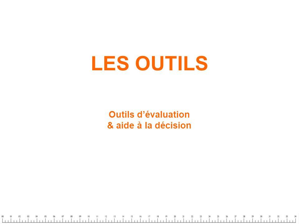 LES OUTILS Outils dévaluation & aide à la décision