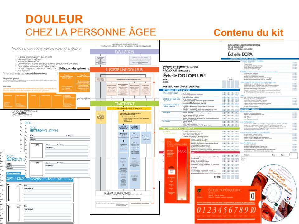 DOULEUR CHEZ LA PERSONNE ÂGEE Contenu du kit