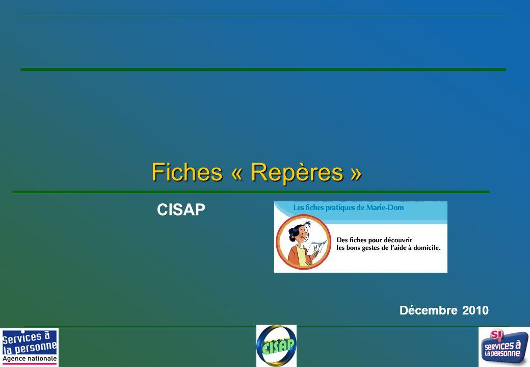 1 Fiches « Repères » CISAP Décembre 2010