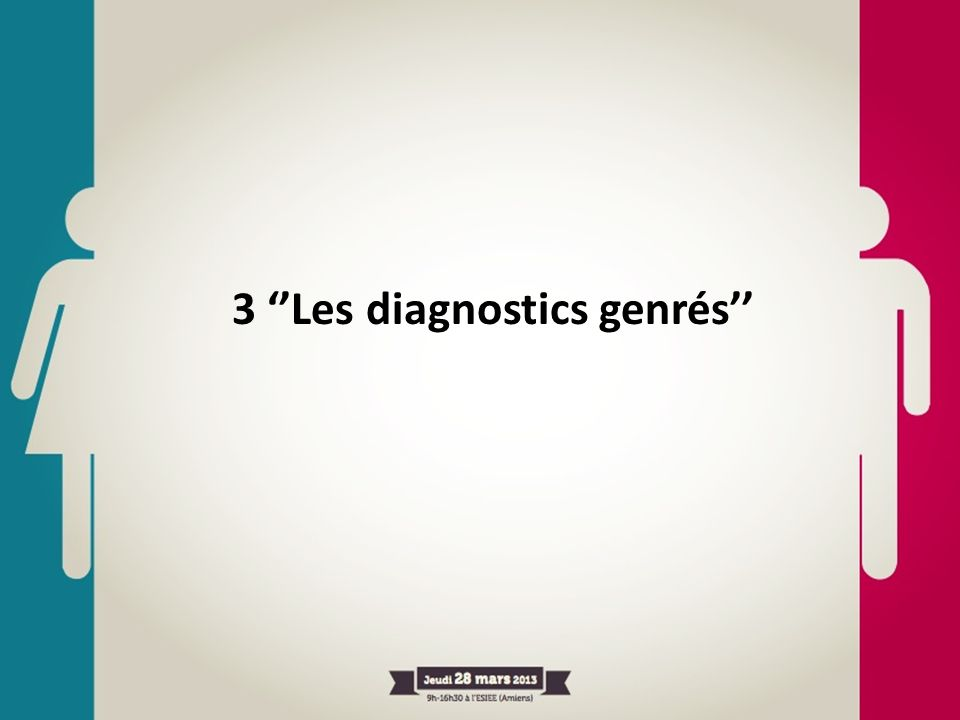 3 Les diagnostics genrés